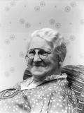 1930s Portrait of Elderly White Hair Woman Wearing Pince-Nez Glasses Photographic Print