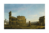 The Colosseum and the Arch of Constantine Giclee Print by  Canaletto