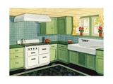 Illustration of Ideal American Kitchen Giclee Print