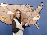 1970s Woman Weather Girl Meteorology Meteorologist Television News Photographic Print