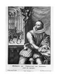 Portrait Engraving of Miguel De Cervantes Saavedra Giclée-Druck von George Vertue