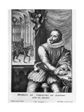 Portrait Engraving of Miguel De Cervantes Saavedra Giclee Print by George Vertue