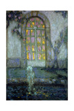 Glass Door onto the Garden Gicléetryck av Henri Le Sidaner