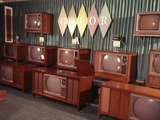 1960s Display of Color Television Sets for Sale in Department Store Photographic Print