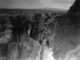 Old Trail at Acoma Photographic Print by Edward S. Curtis