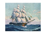 Illustration of Uss Constitution Giclee Print