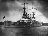 German Battleship Sms Hannover Photographic Print