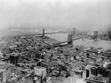Brooklyn and Bridges over East River Reproduction photographique
