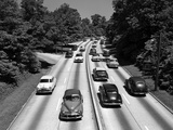 1950s Highway Traffic on Grand Central Parkway Looking East from 188th Street Overpass Photographic Print