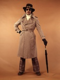 1970s Young Man Fashion Trench Coat Photographic Print