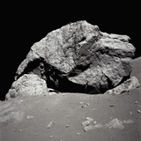 Large Rock on the Moon Photographic Print