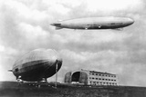 Airships at Lakehurst, New Jersey Photographic Print