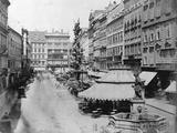 Pestsaule, (Plague Column on the Graben) Vienna, Austria, 1863 Fotografie-Druck