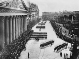 Troops Marching Down Avenida Alvear Photographic Print