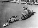 Ships Blocking the Suez Canal Photographic Print