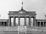 Brandenburg Gate, Berlin, 1966 Photographic Print