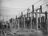 Pylons at Marchwood Photographic Print