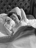 1940s-1950s Woman Asleep in Bed Photographic Print