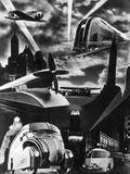 1930s Futuristic Art Decco Streamline Design Modes Transportation Car Train Plane Propellor Truck Photographie