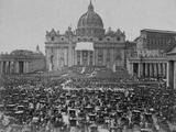 Papal Benediction at St. Peter's Basilica Fotografisk tryk