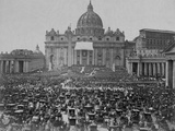 Papal Benediction at St. Peter's Basilica Photographic Print