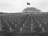 US Marine Cemetery on Iwo Jima Photographic Print