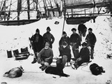 Captain Nares and Crew on Polar Expedition Photographic Print