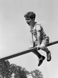 1930s-1940s Excited Boy on Seesaw Playing Photographic Print