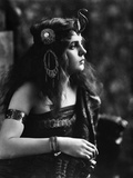 1910s-1920s Woman in Egyptian Costume Wearing Jeweled Arm Cuff and Ornate Head Piece Photographic Print