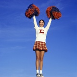 Teenage Girl Cheerleading Photographic Print
