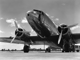 1940s Domestic Passenger Airplane Dual Propeller Landing Gear Fotografická reprodukce