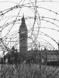 Big Ben Through Barbed Wire, Ca. 1940 Photographic Print