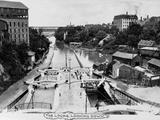 Canal Locks at Lockport Photographic Print