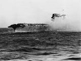 Crew of U.S.S. Lexington Abandoning Ship Photographic Print