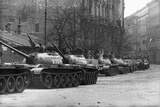 Russian Tanks in Budapest Photographic Print