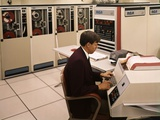 1960s-1970s Man Seated Keyboard Work Station Rca Information System Data Processing Mainframe Photographic Print