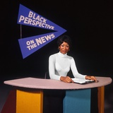 1970s African American News Anchor Wearing White Shirt Program Black Perspective on the News Photographic Print