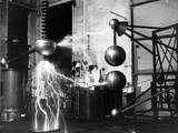Electricity Generated in Laboratory Photographic Print