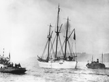 Amundsen's Vessel Returns from the Arctic Photographic Print