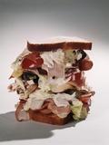 Tall Overstuffed Dagwood Sandwich Still Life Photographic Print