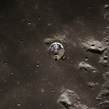 Command Module Above the Moon Photographic Print