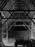 Interior of the Barley Barn at Cressing Temple Photographic Print