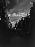 War Plane Contrails in the London Sky Photographic Print