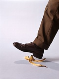 1970s Male Foot About to Step on Banana Peel Photographic Print