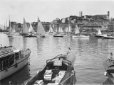 Picturesque View of Cannes Harbour Photographic Print