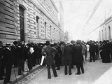 Crowd Waiting for Outcome of Dreyfus Affair, France Photographic Print