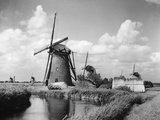 Canalside Windmills Photographic Print