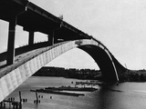 Construction of the Gladesville Bridge Photographic Print