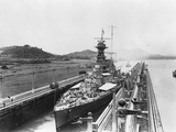 HMS Hood in Panama Canal Photographic Print