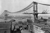 Manhattan Bridge under Construction Reproduction photographique